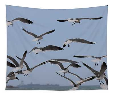 Flying Gulls  Tapestry