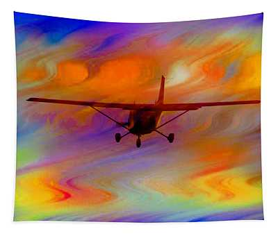Flying Into A Rainbow Tapestry