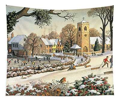 Focus On Christmas Time Tapestry