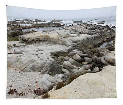 Fog And Rock Formations At Asilomar State Beach In Pacific Grove Near Monterey California 5d25110 Tapestry