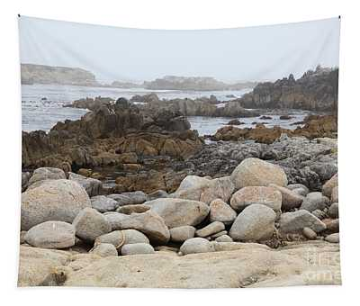 Fog And Rock Formations At Asilomar State Beach In Pacific Grove Near Monterey California 5d25112 Tapestry