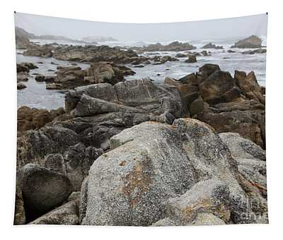 Fog And Rock Formations At Asilomar State Beach In Pacific Grove Near Monterey California 5d25113 Tapestry
