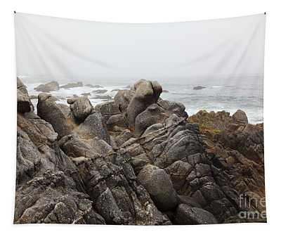 Fog And Rock Formations At Asilomar State Beach In Pacific Grove Near Monterey California 5d25114 Tapestry