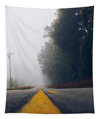 Fog On Highway Tapestry