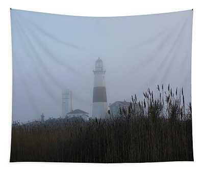 Foggy Montauk Lighthouse Tapestry