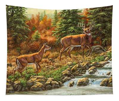 Whitetail Deer - Follow Me Tapestry