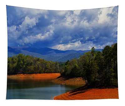 Fontana Lake Storm Tapestry