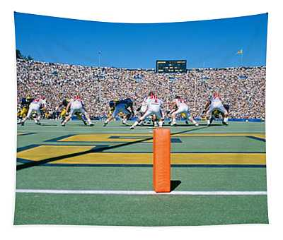 Football Game, University Of Michigan Tapestry