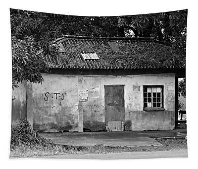 Forgotten - Black And White Tapestry