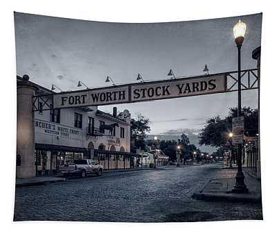 Fort Worth Stockyards Bw Tapestry