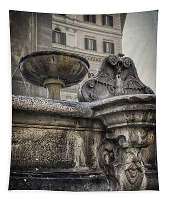Fountain Of Santa Maria Maggiore Tapestry
