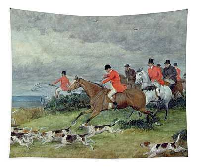 Fox Hunting In Surrey Tapestry