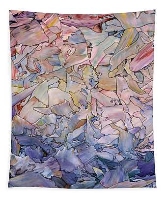 Fragmented Sea - Square Tapestry