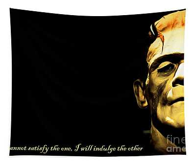 Frankenstein 20140921brunaille Horizontal With Text V2 Tapestry