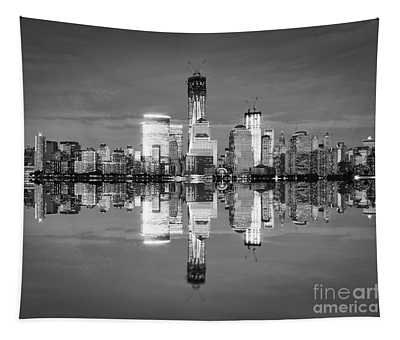 Freedom Tower Black And White Tapestry