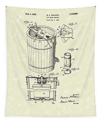 Freezer 1929 Patent Art Tapestry