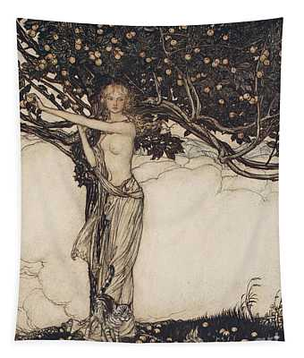 Freia The Fair One Illustration From The Rhinegold And The Valkyrie Tapestry