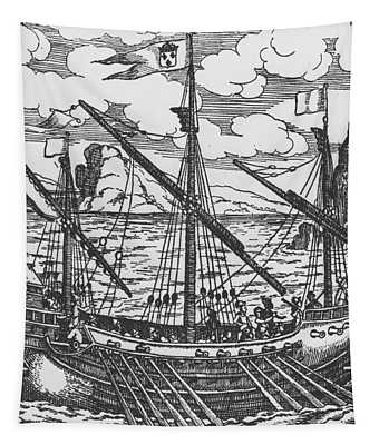 French Galley Operating In The Ports Of The Levant Since Louis Xi  Tapestry