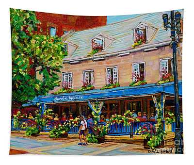 French Restaurant Jardin Nelson Paris Style Bistro Place Jacques Cartier Terrace Garden C Spandau   Tapestry