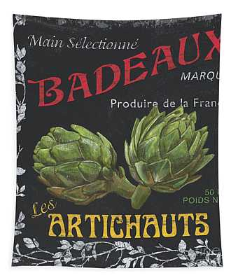 French Veggie Labels 1 Tapestry