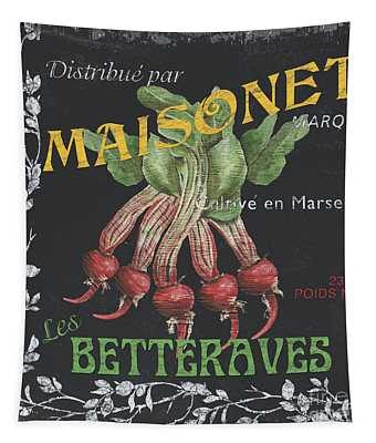 French Veggie Labels 2 Tapestry