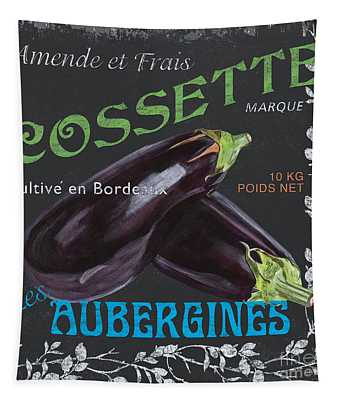 French Veggie Labels 4 Tapestry