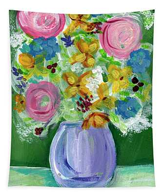 Fresh Flowers- Painting Tapestry