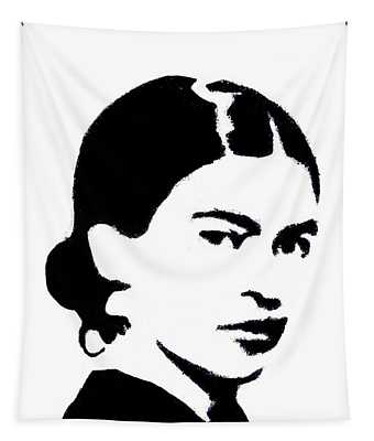 Frida Black And White Tapestry