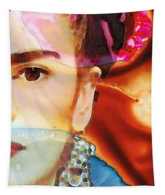 Frida Kahlo Art - Seeing Color Tapestry