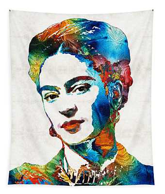Frida Kahlo Art - Viva La Frida - By Sharon Cummings Tapestry