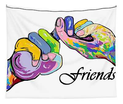 Friends   An American Sign Language Painting Tapestry