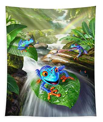 Frog Capades Tapestry