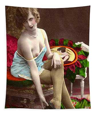 From Risque Postcard Collection 1 Tapestry