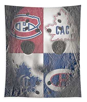Frozen Canadiens Tapestry