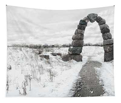 Frozen Stone Arch Tapestry