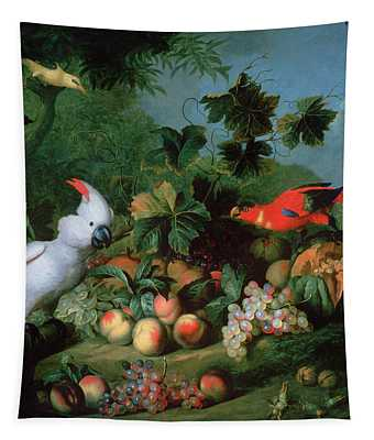 Fruit And Birds Tapestry