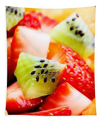 Fruit Salad Macro Tapestry