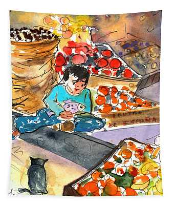 Fruit Shop In The Mountains Of Gran Canaria Tapestry