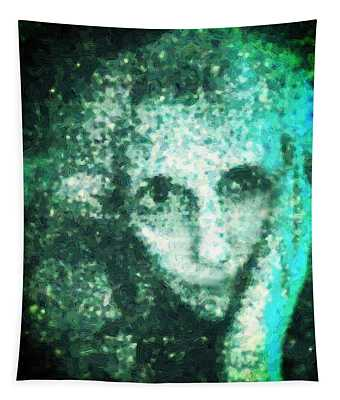 Fugue In Black And Cyan Tapestry