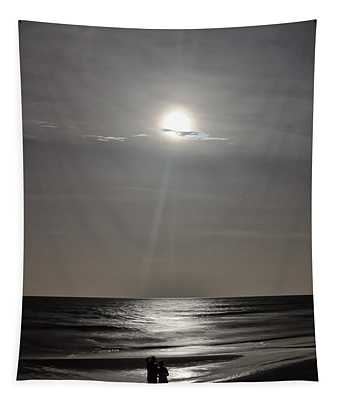 Full Moon Over Daytona Beach Tapestry
