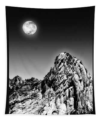 Full Moon Over The Suicide Rock Tapestry