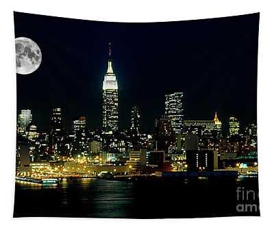 Full Moon Rising - New York City Tapestry
