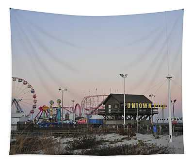 Fun At The Shore Seaside Park New Jersey Tapestry