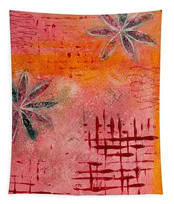 Fun Flowers In Pink And Orange 2 Tapestry