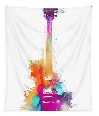 Funky Colored Guitar Tapestry