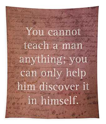 Galileo Quote Science Astronomy Math Physics Inspirational Words On Canvas Tapestry
