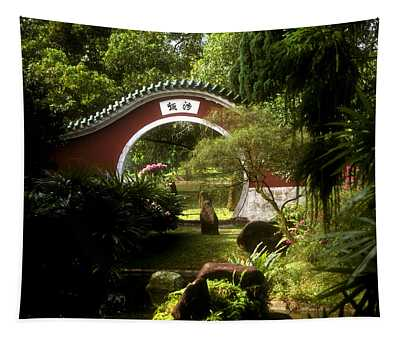 Garden Moon Gate 21e Tapestry