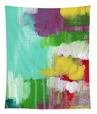 Garden Path- Abstract Expressionist Art Tapestry