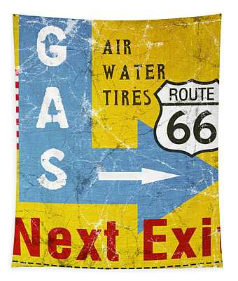 Gas Next Exit- Route 66 Tapestry