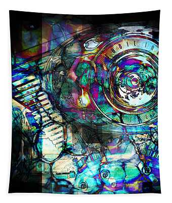 Gasoline Motorcycle Engine Tapestry